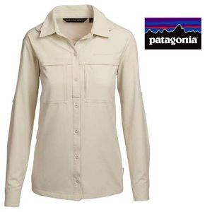 Patagonia Hiking Button Up Shirt in Cream